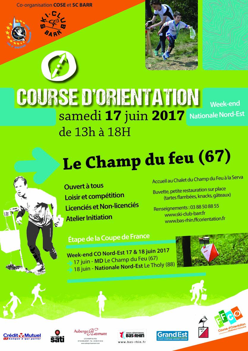 Course d'orientation – dimanche 17 septembre 2017