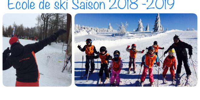 Ecole de ski – Saison 2018/2019 – début des inscriptions